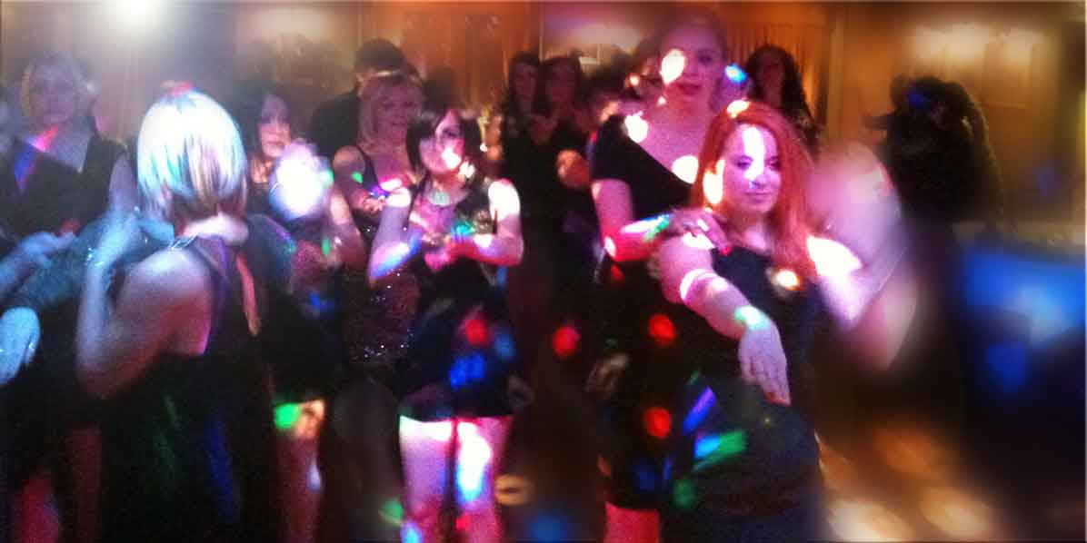 Girls dancing at a private event at Stirrups Country House Hotel